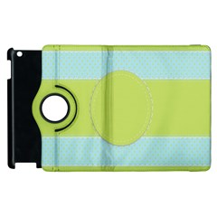 Lace Polka Dots Border Apple Ipad 3/4 Flip 360 Case by Modern2018