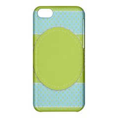 Lace Polka Dots Border Apple Iphone 5c Hardshell Case by Modern2018