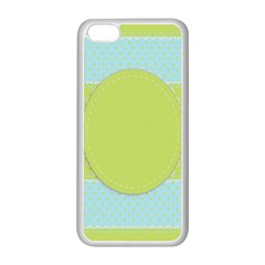 Lace Polka Dots Border Apple Iphone 5c Seamless Case (white)