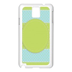Lace Polka Dots Border Samsung Galaxy Note 3 N9005 Case (white)