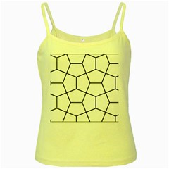 Cairo Tessellation Simple Yellow Spaghetti Tank by goodart