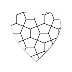 Cairo Tessellation Simple Heart Magnet