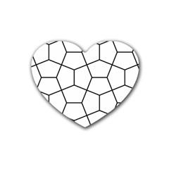 Cairo Tessellation Simple Rubber Coaster (heart)
