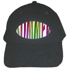 Summer Colorful Rainbow Typography Black Cap