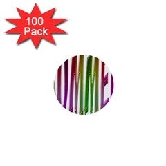 Summer Colorful Rainbow Typography 1  Mini Buttons (100 Pack)