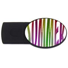 Summer Colorful Rainbow Typography Usb Flash Drive Oval (2 Gb)