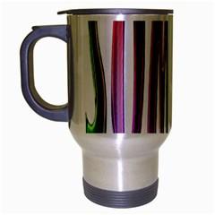 Summer Colorful Rainbow Typography Travel Mug (silver Gray)