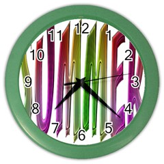 Summer Colorful Rainbow Typography Color Wall Clocks