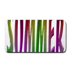Summer Colorful Rainbow Typography Medium Bar Mats
