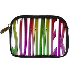 Summer Colorful Rainbow Typography Digital Camera Cases