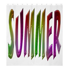 Summer Colorful Rainbow Typography Shower Curtain 66  X 72  (large)