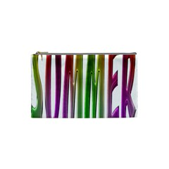 Summer Colorful Rainbow Typography Cosmetic Bag (small)