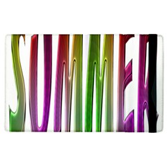 Summer Colorful Rainbow Typography Apple Ipad 3/4 Flip Case