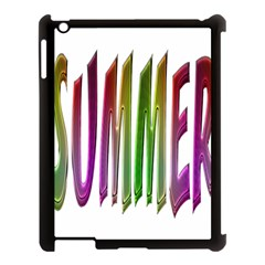 Summer Colorful Rainbow Typography Apple Ipad 3/4 Case (black)