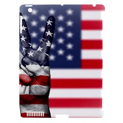 United State Flags With Peace Sign Apple Ipad 3/4 Hardshell Case (compatible With Smart Cover) by goodart