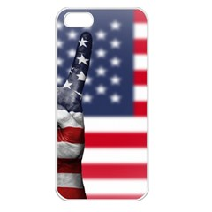 United State Flags With Peace Sign Apple Iphone 5 Seamless Case (white)