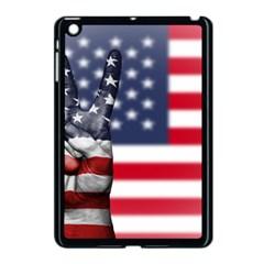 United State Flags With Peace Sign Apple Ipad Mini Case (black)