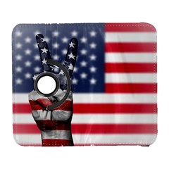 United State Flags With Peace Sign Galaxy S3 (flip/folio) by goodart