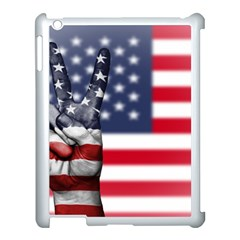 United State Flags With Peace Sign Apple Ipad 3/4 Case (white)