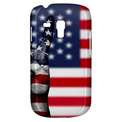 United State Flags With Peace Sign Galaxy S3 Mini by goodart