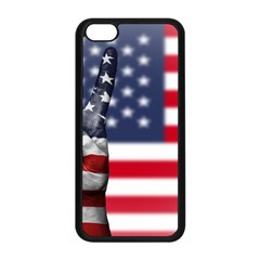 United State Flags With Peace Sign Apple Iphone 5c Seamless Case (black)