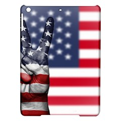 United State Flags With Peace Sign Ipad Air Hardshell Cases