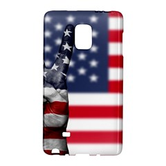United State Flags With Peace Sign Galaxy Note Edge by goodart