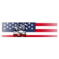 United State Flags With Peace Sign Satin Scarf (oblong)