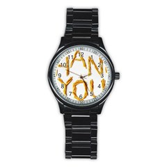 Thank You French Fries Stainless Steel Round Watch