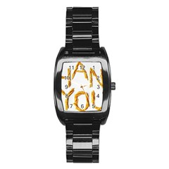 Thank You French Fries Stainless Steel Barrel Watch