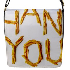 Thank You French Fries Flap Messenger Bag (s)