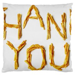 Thank You French Fries Standard Flano Cushion Case (one Side) by goodart