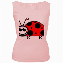 Lady Bug Clip Art Drawing Women s Pink Tank Top