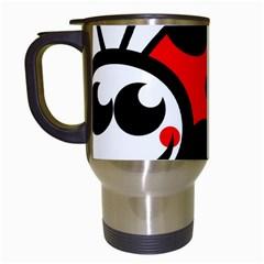 Lady Bug Clip Art Drawing Travel Mugs (white)