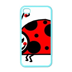 Lady Bug Clip Art Drawing Apple Iphone 4 Case (color)