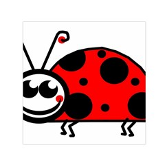Lady Bug Clip Art Drawing Small Satin Scarf (square)