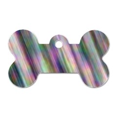 Gradient With Resynthetize Texture Dog Tag Bone (one Side)