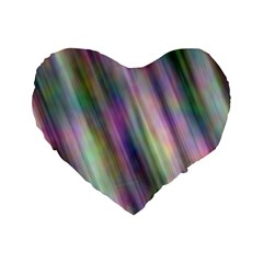 Gradient With Resynthetize Texture Standard 16  Premium Heart Shape Cushions