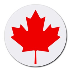 Flag Of Canada Round Mousepads