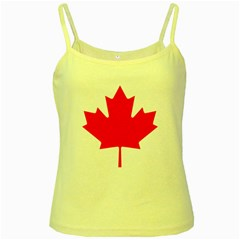 Flag Of Canada Yellow Spaghetti Tank