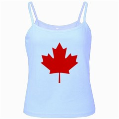 Flag Of Canada Baby Blue Spaghetti Tank by goodart