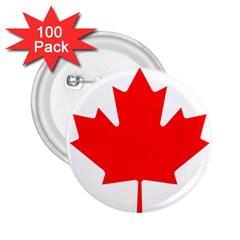 Flag Of Canada 2 25  Buttons (100 Pack)  by goodart