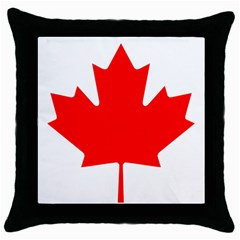 Flag Of Canada Throw Pillow Case (black)