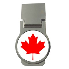 Flag Of Canada Money Clips (round)  by goodart