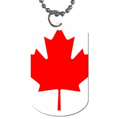 Flag Of Canada Dog Tag (two Sides)
