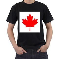Flag Of Canada Men s T Shirt (black) (two Sided)