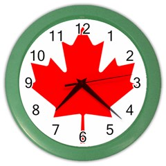 Flag Of Canada Color Wall Clocks