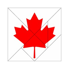 Flag Of Canada Acrylic Tangram Puzzle (6  X 6 ) by goodart