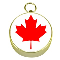 Flag Of Canada Gold Compasses