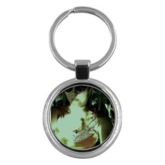 Selfy In A Shades Key Chains (round)